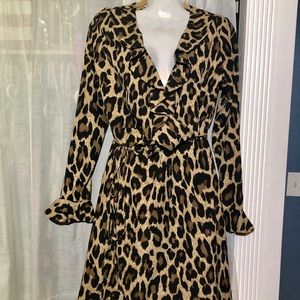 Romeo & Juliet Cheetah Print Wrap Dress Medium NWT